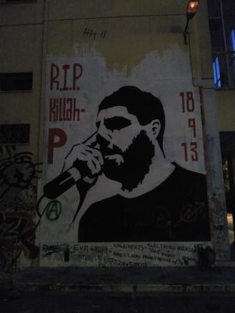 Mural dedicado al rapero Pavlos Fyssas